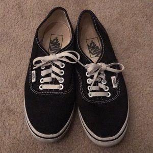 Slim black vans